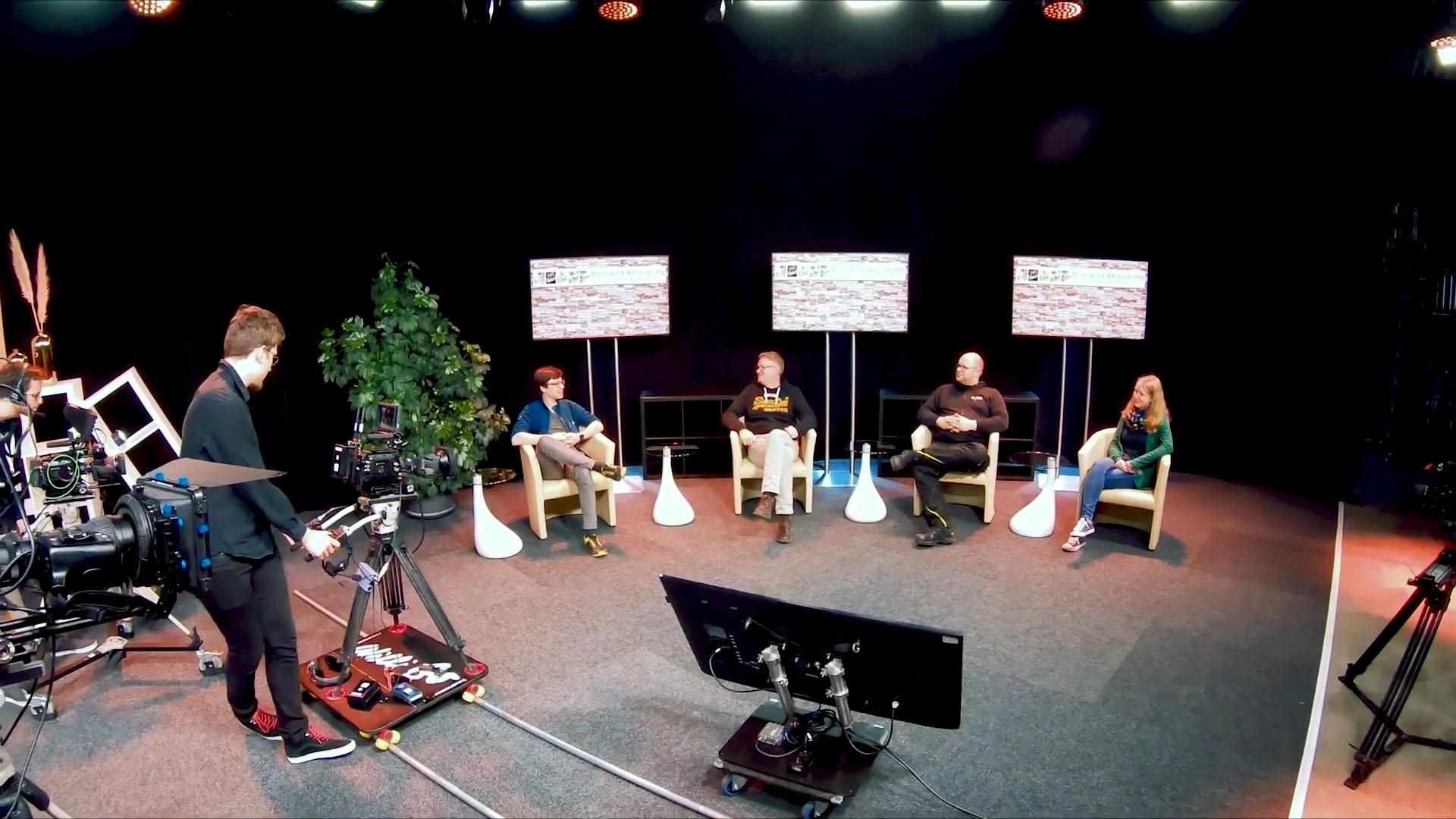 TV-Studio Talkrunde Talkshow