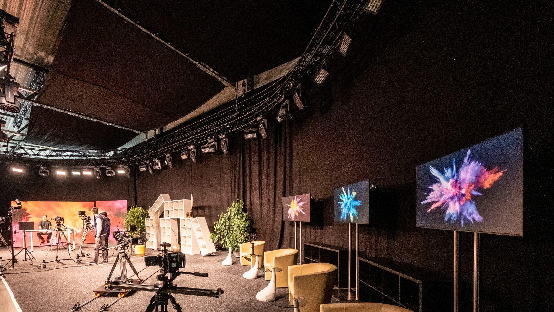 TV-Studio Triacs hochauflösende LED-Wand