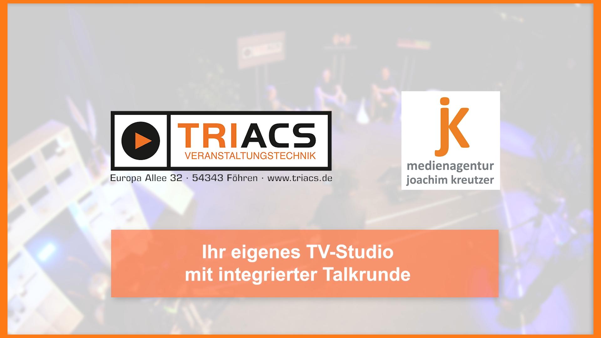 Triacs TV-Studio Talkrunde Talkshow